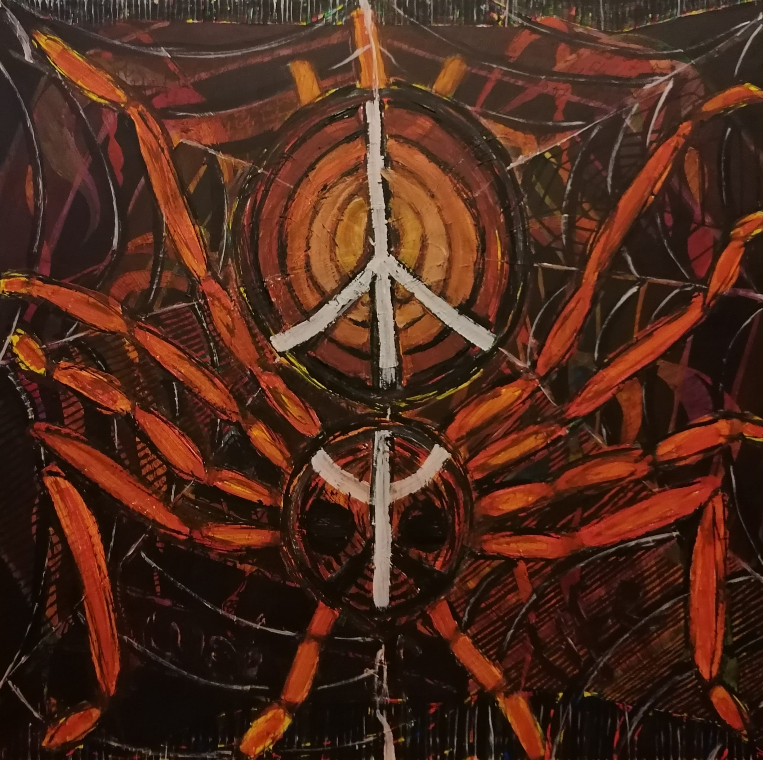 mathias sager painting peace with the ugly acrylic on canvas art psychology