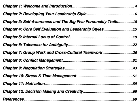 mathias sager psychology book self-leadership table of content